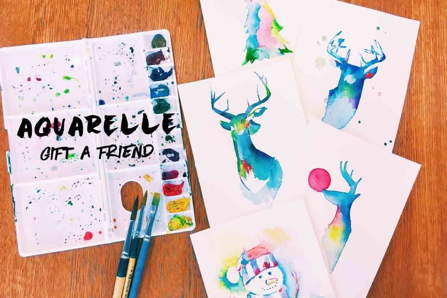 Watercolour Card Workshop | LAC Art Studio Singapore
