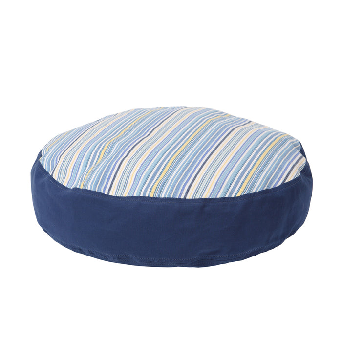 Round Dog Bed Cover - Sierra Blue on Blue