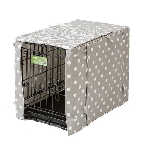 Polka Dot with Amsterdam Stagecoach Dog Crate Cover - LifeStages 1600 Series