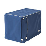 Sailor Blue Twill with Natural Twill Dog Crate Cover - FINAL SALE, NO EXCHANGES, NO RETURNS