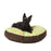 The Scotty Round Dog Bed - Chocolate