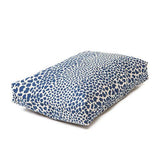 Rectangular Dog Bed Set - Indigo Leopard Print