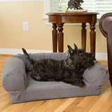 Sofa Dog Bed in Heather Grey