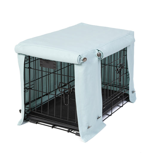 Washable Dog Crate Cover - Sky Gray