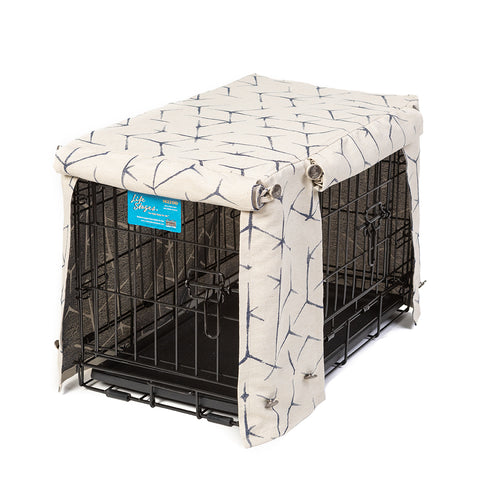 Washable Dog Crate Cover - Blue Gazer