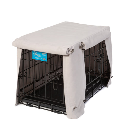 Washable Dog Crate Cover - Dove Gray