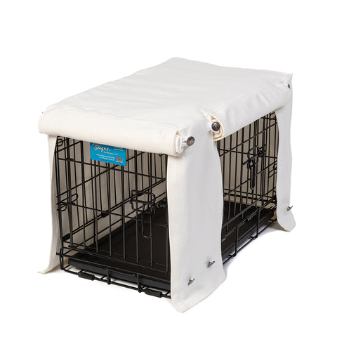 Washable Dog Crate Cover - Optic White