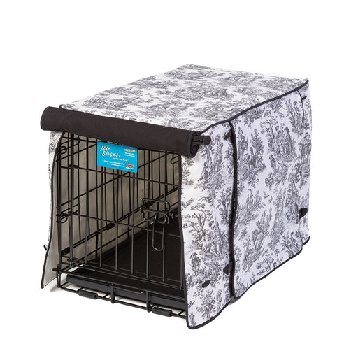 Rustic Life Toile Dog Crate Cover