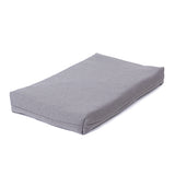 Pewter Memory Foam Crate Pads with Waterproof Liner