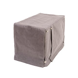 Washable Dog Crate Cover - Denim Grey