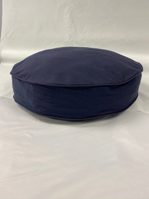 Round Dog Bed Cover - Indigo Blue