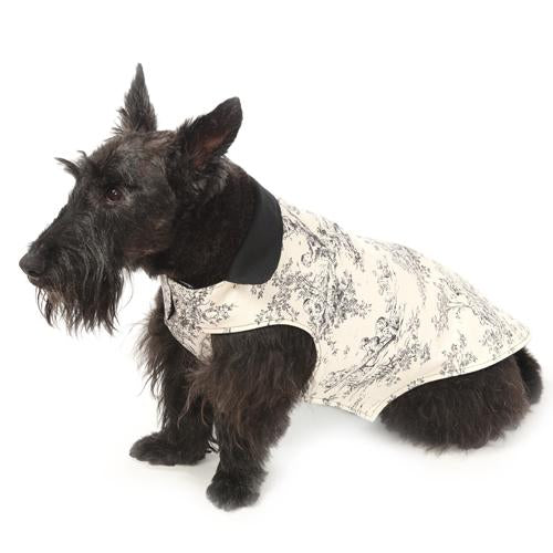 Central Park Toile Reversible Dog Jacket