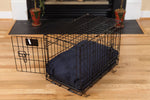 Washable Rectangular Dog Bed Cover - Indigo Blue Twill