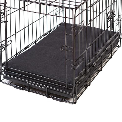 Black Twill Memory Foam Crate Pads with Waterproof Liner