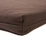 Chocolate Twill Memory Foam Crate Pads with Waterproof Liner