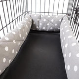 Bumper Single Door - Grey Polka Dot