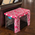 Candy Pink Dog Crate Cover