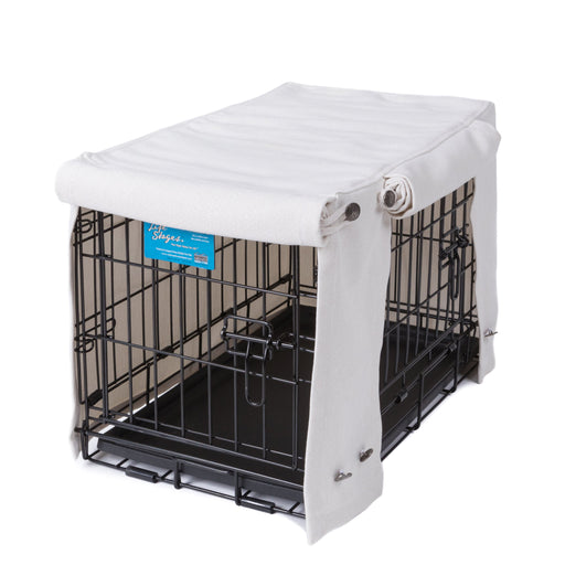Washable Dog Crate Cover Almond Performance Fabric