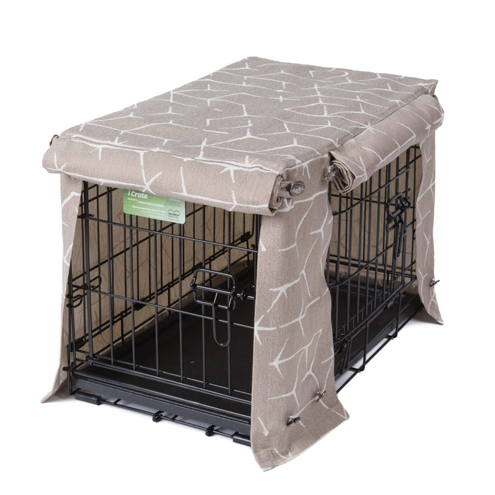 Washable Dog Crate Cover for ACE and iCrates Jayden Mushroom