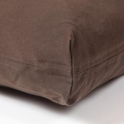 Washable Rectangular Dog Bed Cover - Dark  Chocolate Twill