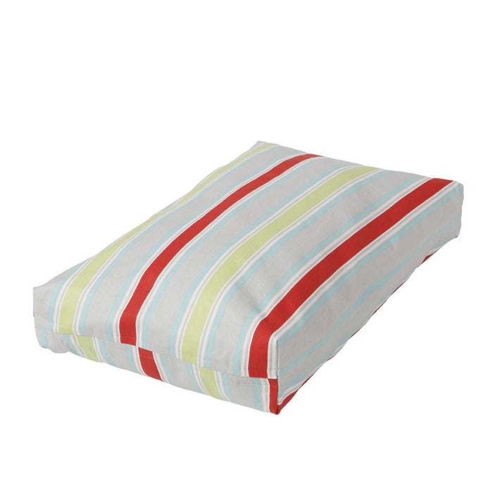 Washable Rectangular Dog Bed Cover Harmony Stripe Twill - Final Sale, No Return, No Exchanges