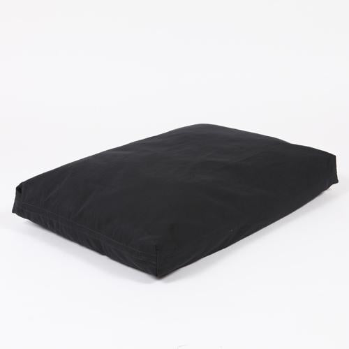 Washable Rectangular Dog Bed Cover - Black Twill