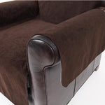 Crypton Chair Cover - Dark Chocolate Suede