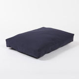 Washable Rectangular Dog Bed Cover in Indigo Blue Twill