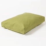 Washable Rectangular Dog Bed Cover in Leaf Twill