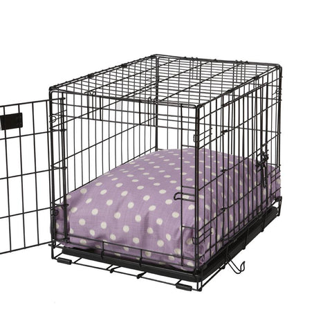 Rectangular Dog Bed Set - Polka Dot Lilac