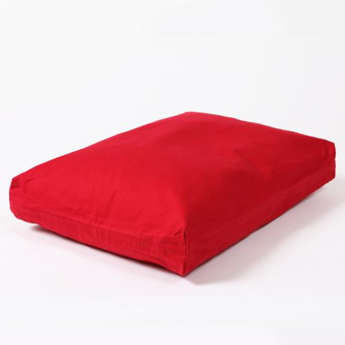 Washable Rectangular Dog Bed Cover Simply Red