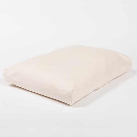 Rectangular Natural Twill Dog Bed Cover