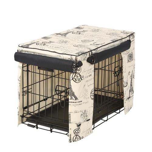 Parisian Black Dog Crate Cover