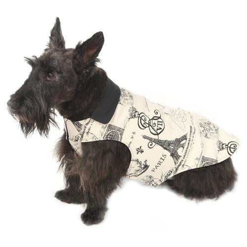 Parisian Black Reversible Dog Jacket
