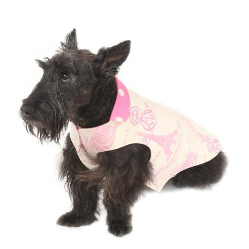 Parisian Pink Reversible Dog Jacket