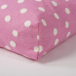 Rectangular Dog Bed Set - Polka Dot Pink