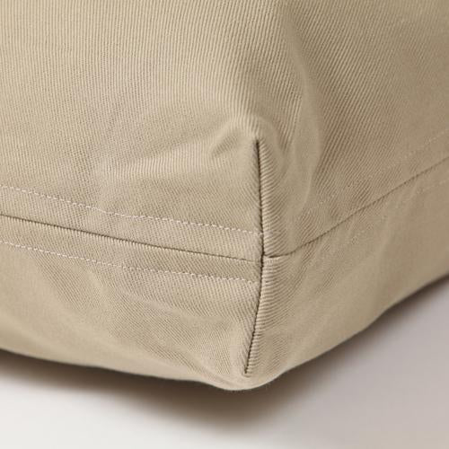 Washable Rectangular Dog Bed Cover -  Khaki Twill - FINAL SALE, No RETURNS, No EXCHANGES