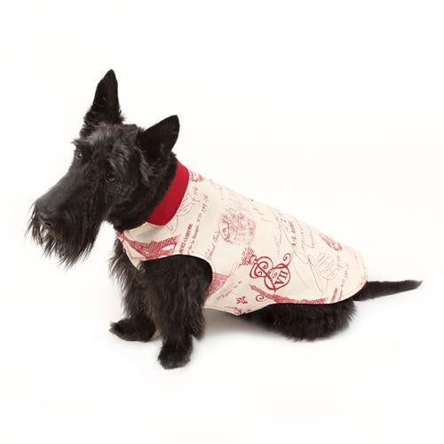 Parisian Red Reversible Dog Jacket