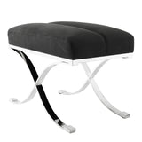 Stool Adonia anthracite grey