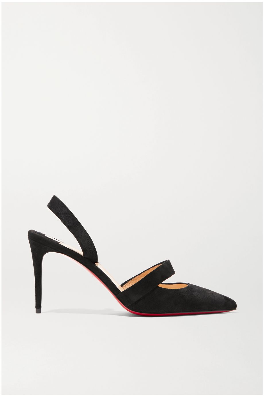 Actina 85 leather slingback pumps