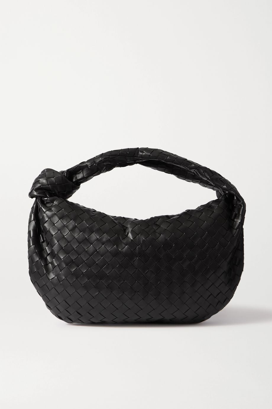 Jodie small knotted intrecciato leather tote