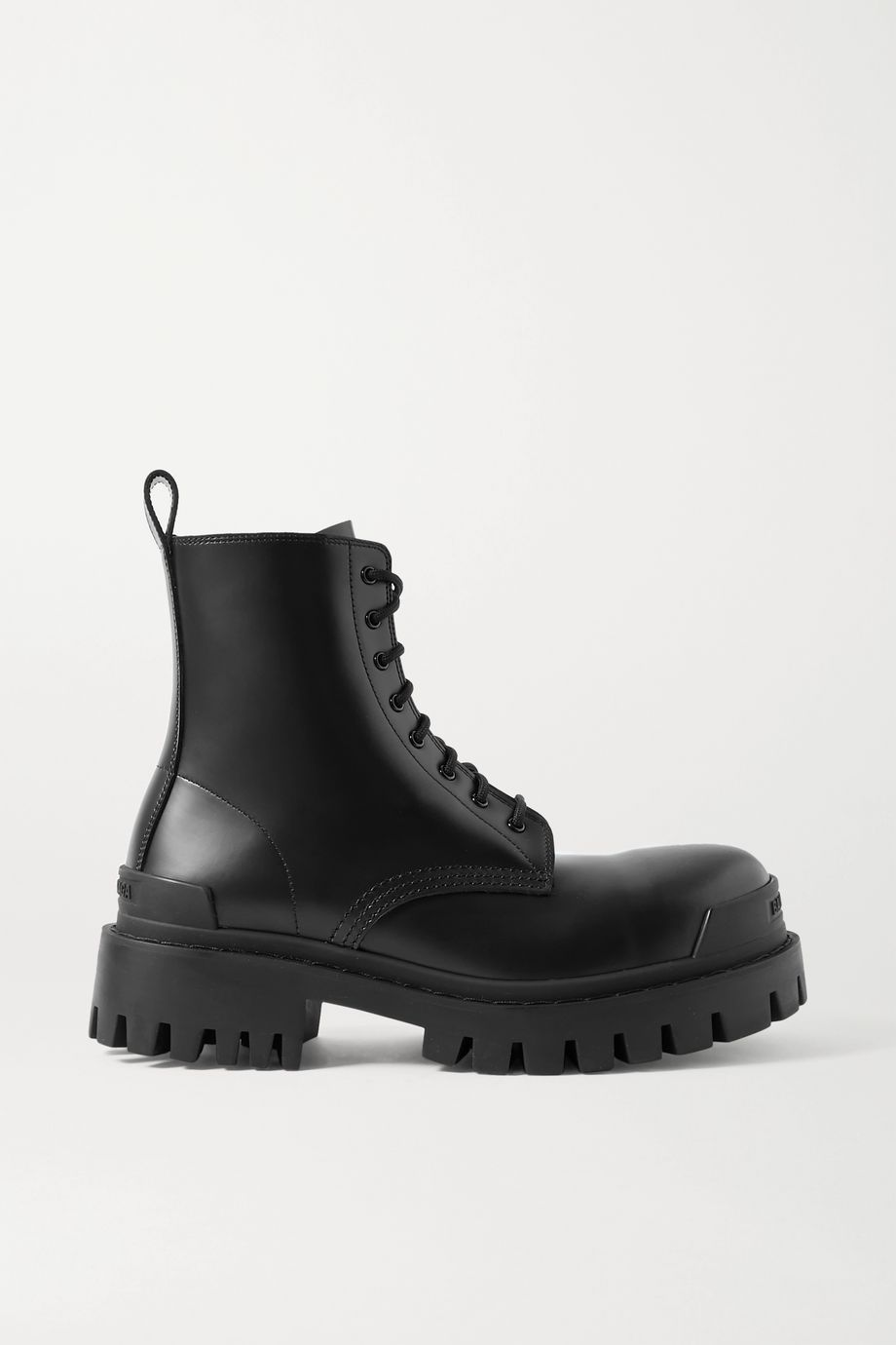 Strike matte-leather ankle boots