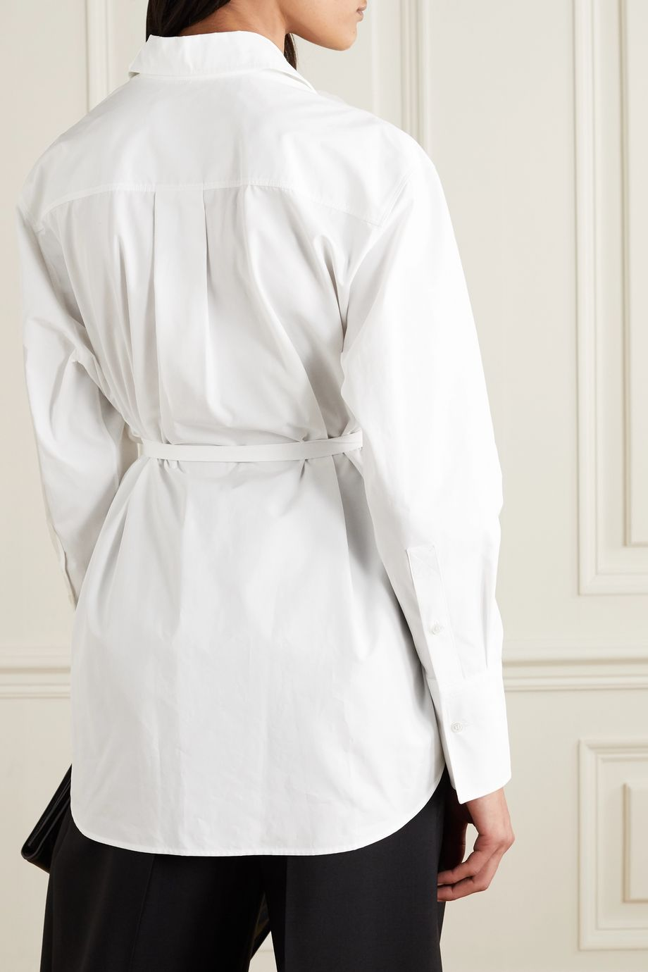 Cotton-poplin wrap shirt