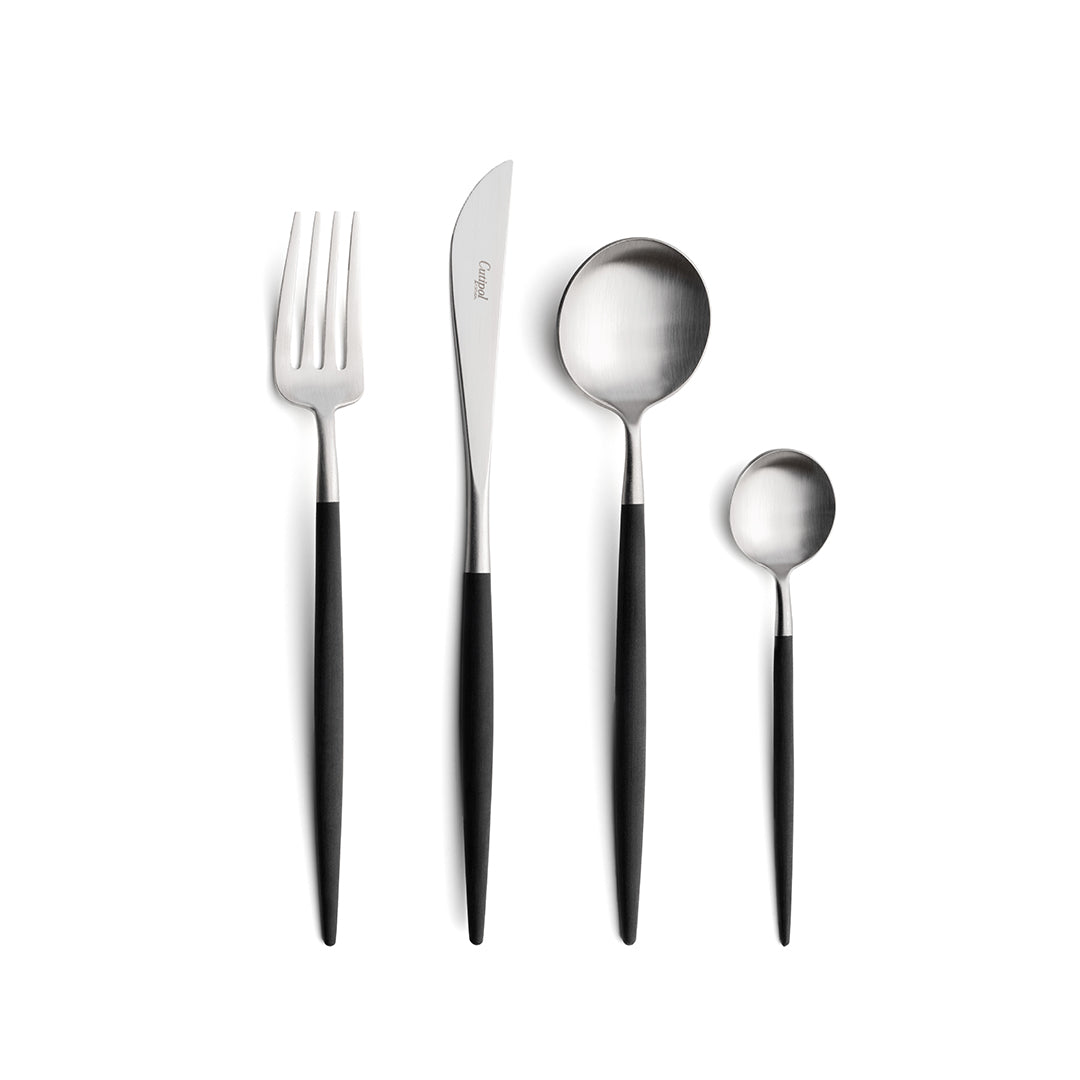 GOA Cutlery Set - Silver Black