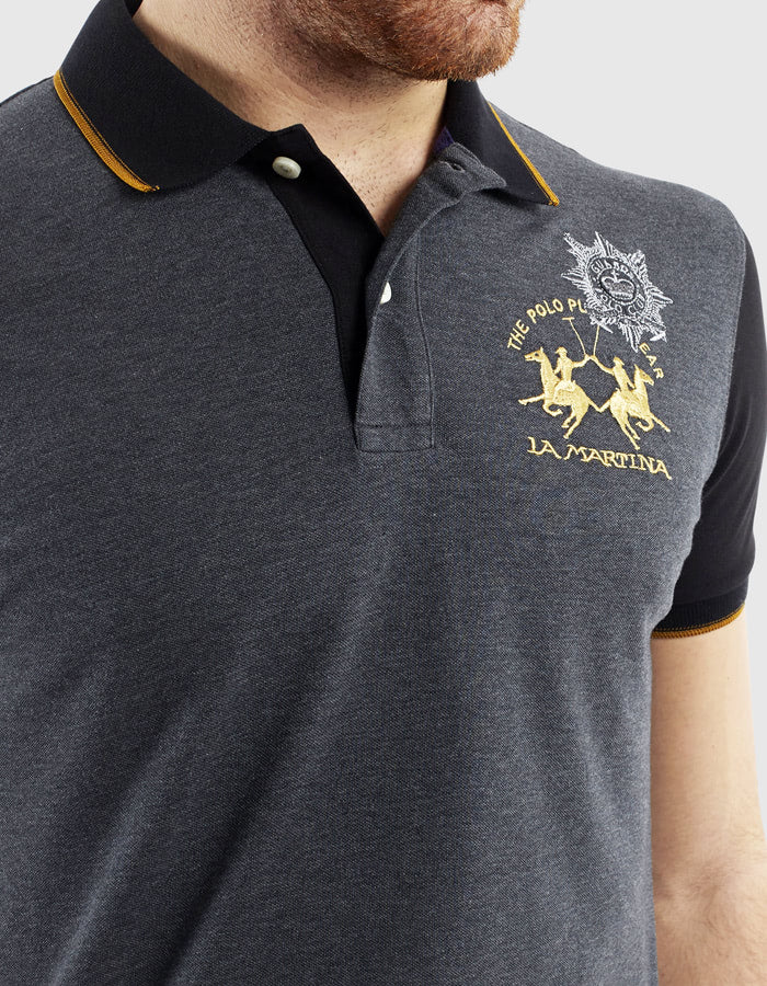 Men's Short-sleeved, Regular-fit Polo Shirt