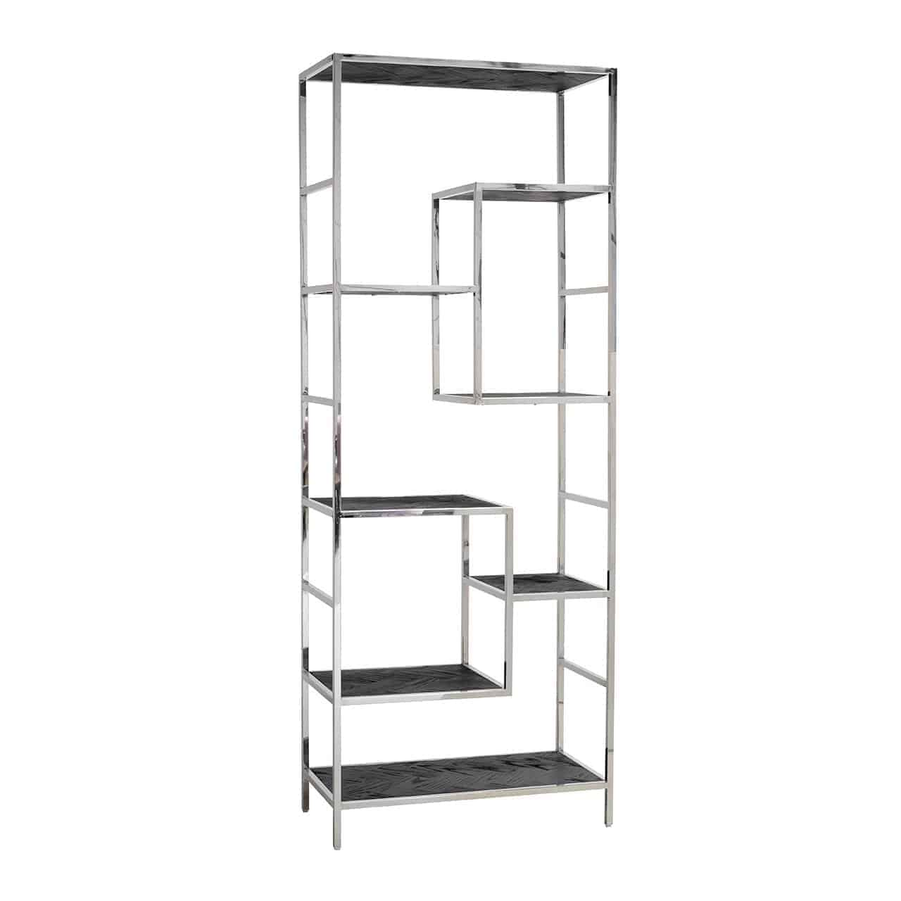 Wall Cabinet Blackbone Silver 7 Shelves