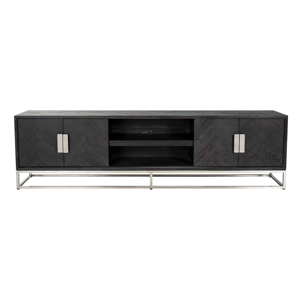 TV Sideboard 220 Blackbone Silver 4-Doors