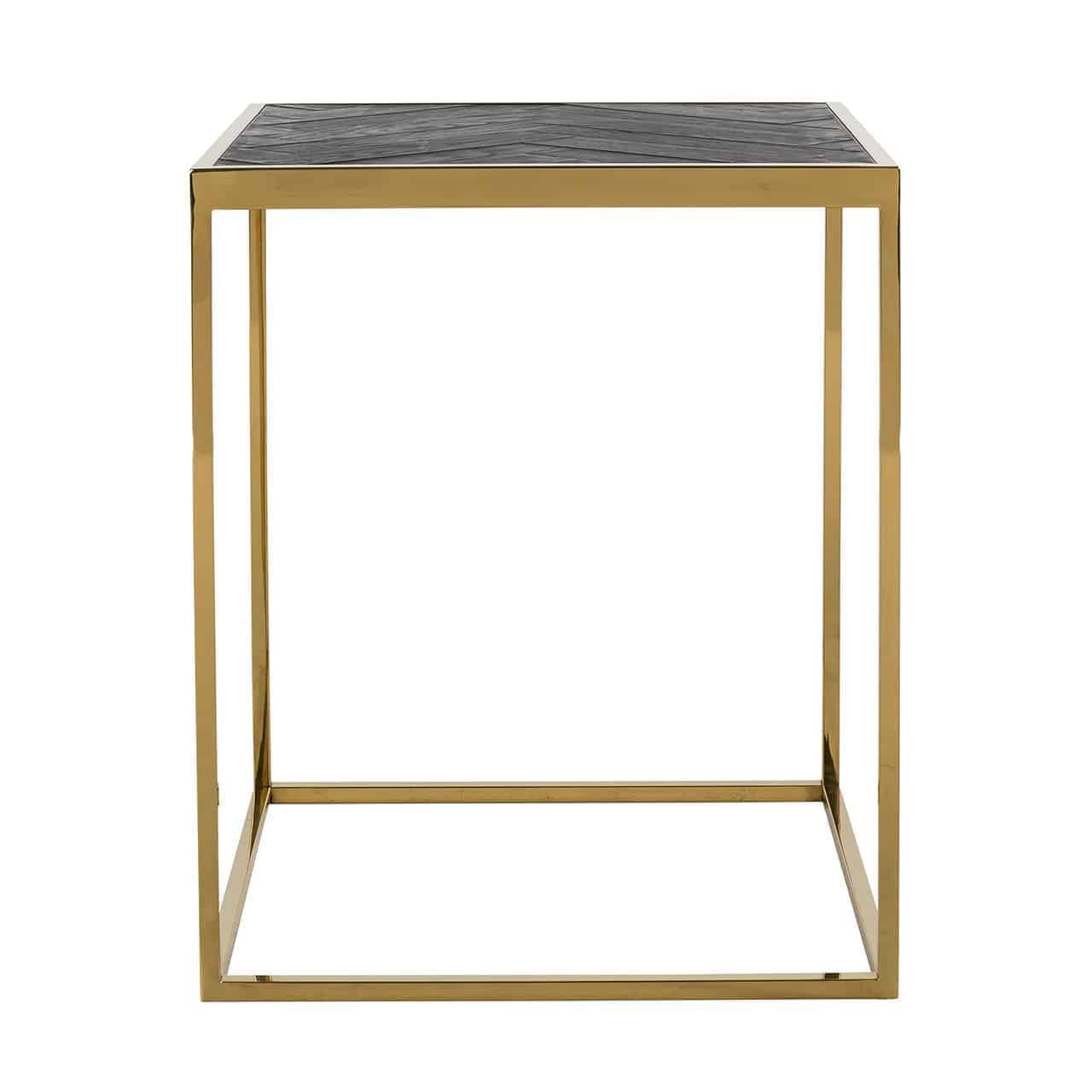 Side Table Blackbone Gold 50x50