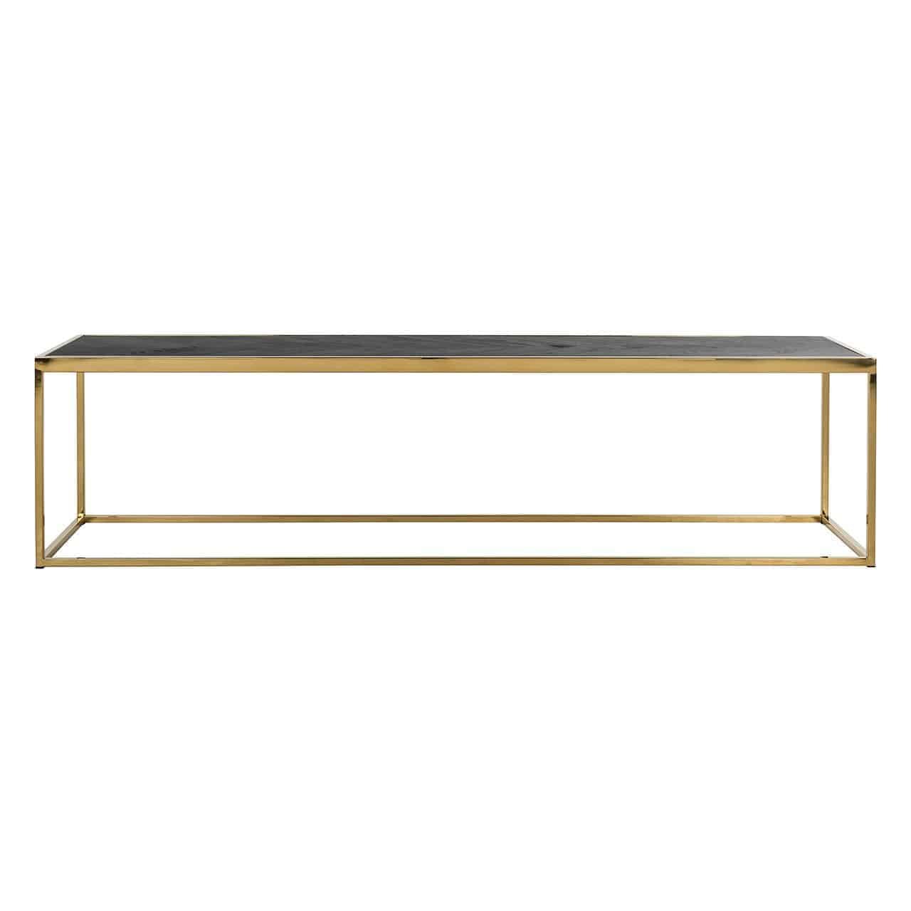 Coffee Table Blackbone Gold 160x40