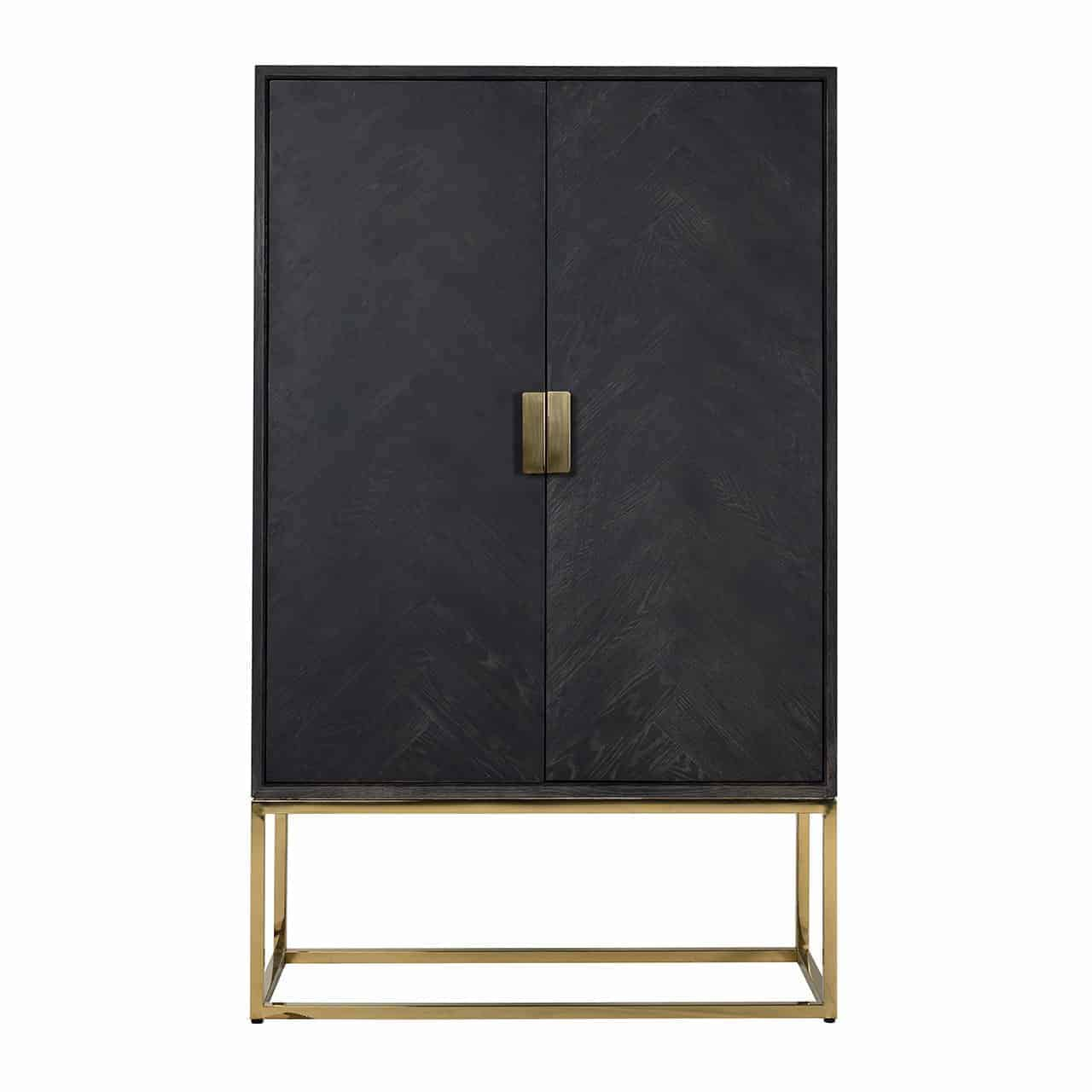 Wall Cabinet Blackbone Gold 2-Door Low